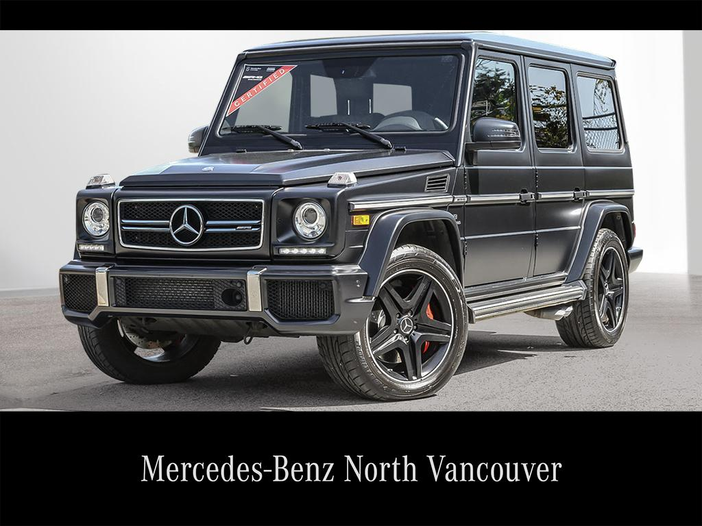 Certified Pre Owned 2015 Mercedes Benz G CLASS G63 AMG